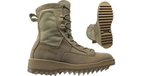 wellco enterprises inc vcl infantry combat boots desert with ripple sole closeout