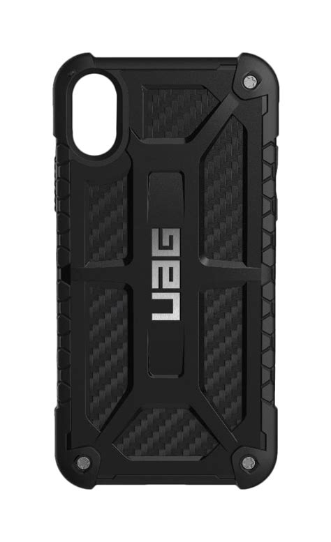 Uag Monarch Series For Iphone X Carbon Fiber Colour Original Uag Monarch Carbon Fiber With Silver Logo For Iphone