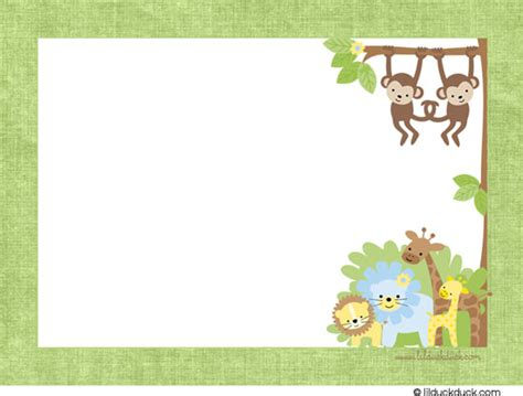 baby jungle animal border clip 6 best images of free printable safari animal border