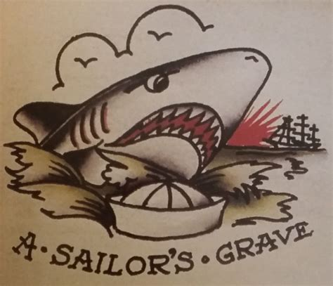 sailors grave tattoo traditional school sailor jerry shark