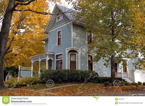 blue victorian house blue victorian house royalty free stock images image 294029