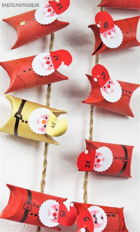weihnachten mit kindern basteln basteln mit kindern adventskalender selber basteln mit