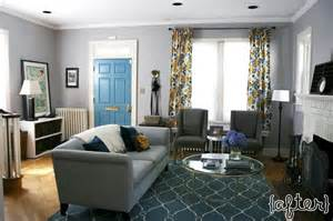 gray teal gold living room with teal trellis rug gray