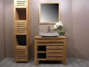 meubles salle de bain bois massif pas cher salle de bain