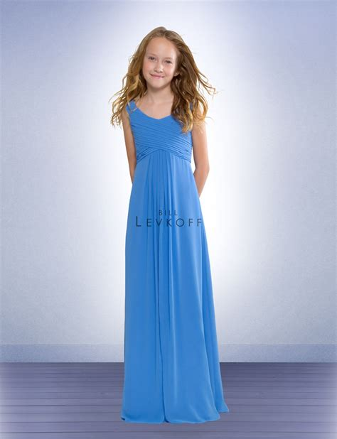 young bridesmaid dress pattern bill levkoff chiffon junior bridesmaids dress 53702