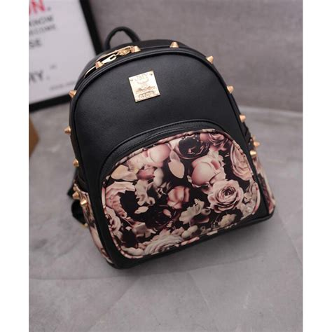 tas laptop backpack korean tas ransel backpack korea butterfly flower black