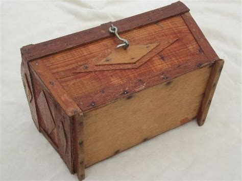 Handmade Sewing Box - handmade wood sewing box small dome top trunk or