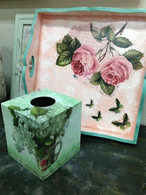 Decoupage Objects - 105 best furniture object decoupage images on