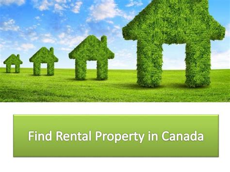 ppt find rental property in canada powerpoint