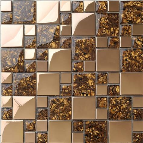 kitchen backsplash mosaic tile stainless steel tiles glass mosaic ssmt068 of pearl