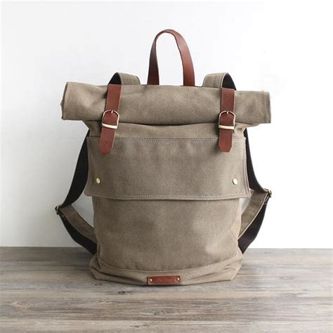 Handmade Canvases - handmade waxed canvas backpack travel backpack school