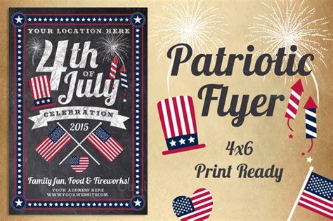 Chalk Patriotic Flyer Flyer Templates On Creative Market Free Patriotic Flyer Template