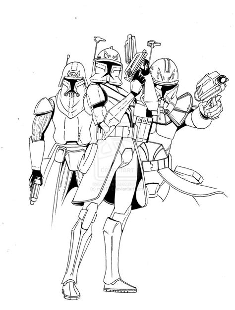 Captain Cody Free Coloring Pages Clone Trooper Coloring Page