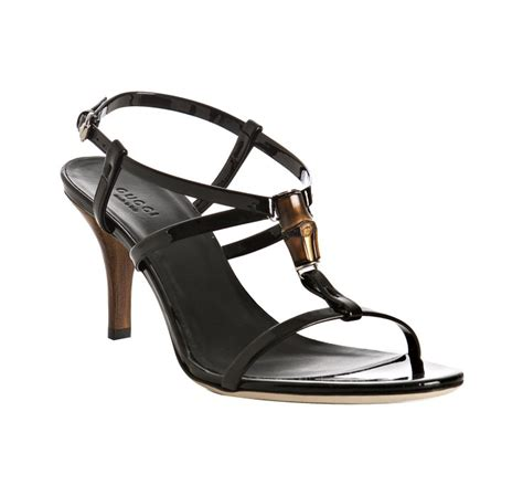 Aigner Barry Black Leather Hijau lyst gucci black patent bamboo icon t sandals in black