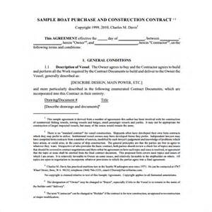 simple boat template sle boat purchase agreement 6 free documents