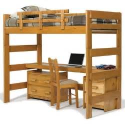 Loft Bunk Bed With Desk Loft Bed With Desk Top Wayfair