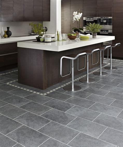 Gray tile with dark brown cabinets   Kitchens   Pinterest
