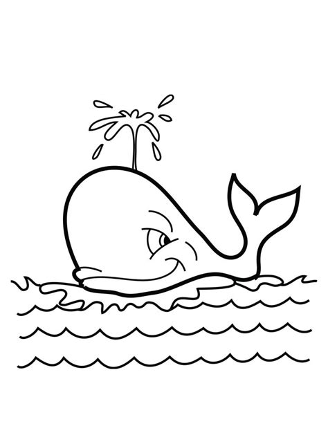 Galerry coloring page of whale