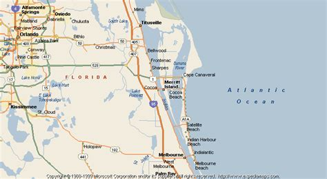 merritt island florida map map of merritt island