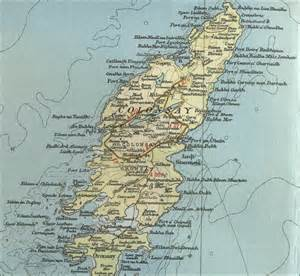 the map of colonsay map