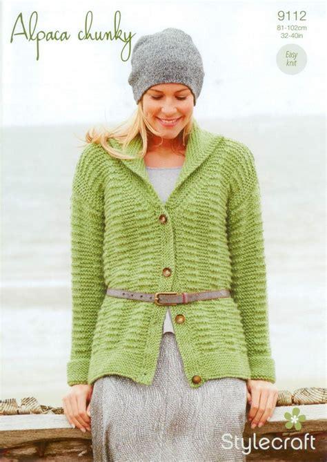 stylecraft knitting patterns to stylecraft 9112 knitting pattern cardigan in alpaca