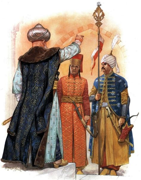 ottoman fashion guard of the ottoman sultan in the 16th century ad