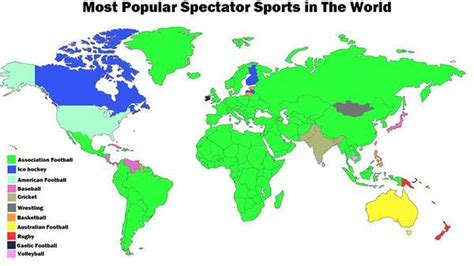 most popular spectator sports in the world by country le