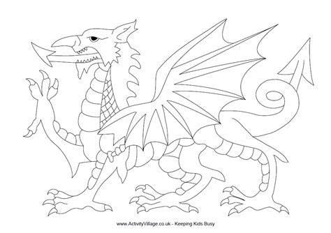 welsh dragon coloring page english for fun