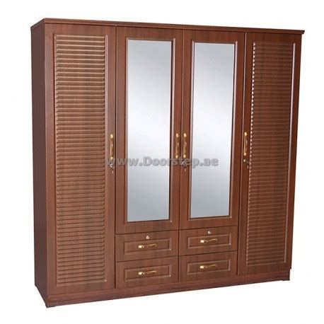 Mirrored Clothes Cabinet Wardrobe Clothes Cabinet 4 Door Plus Mirror Dma 664 Dubai