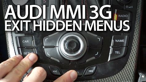 Audi A3 Mmi Firmware Update by How To Exit Menus In Audi Mmi 3g A1 A3 A4 A5 A6 A7