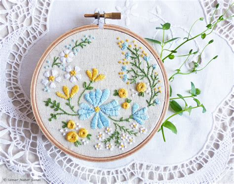 embroidery design kits hand embroidery kit embroidery hoop art by tamarnahiryanai
