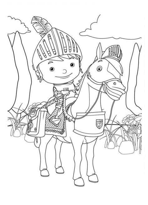 nick jr mike the knight coloring pages dibujos de mike el caballero para colorear