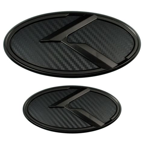 Blacked Out Kia Emblem 2 Black Carbon Fiber Kia K Emblems Badges For Trunk Or