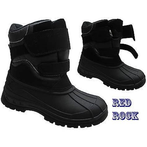 snow sneakers mens new mens snow winter mucker thermal waterproof velcro