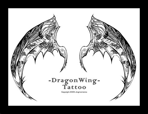 dragon wings tattoo designs wing by jingmamalulu on deviantart
