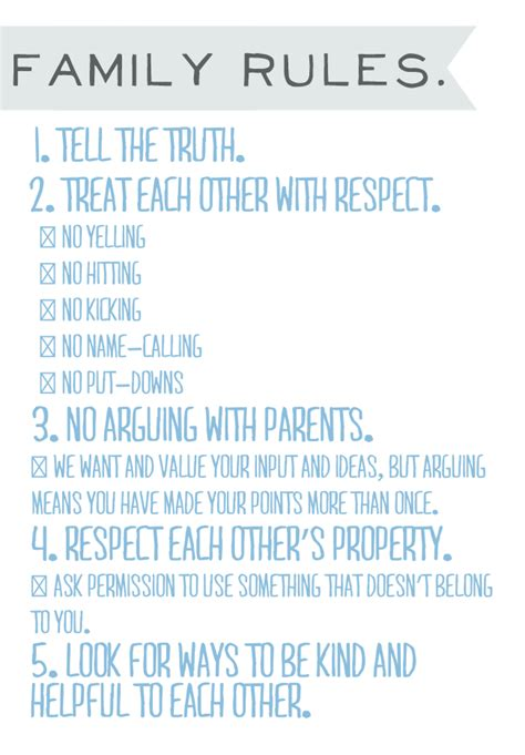 house rules for children chart images frompo
