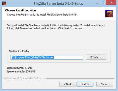 sftp default how to install and configure a filezilla ftp server the