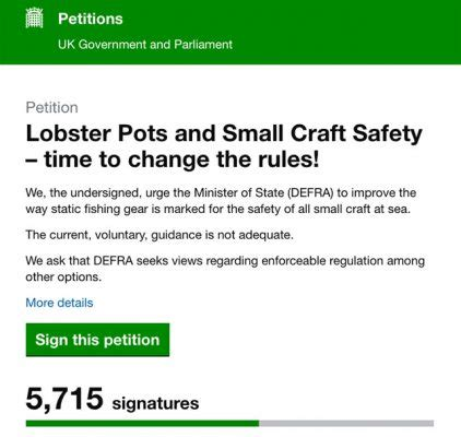 boat safety petition ca s lobster pot petition postponed for general election