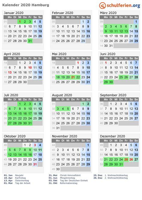 kalender  ferien hamburg feiertage