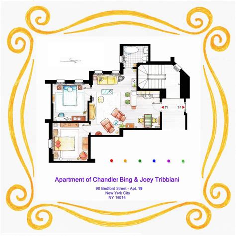 tv floor plan 10 of our favorite tv shows home apartment floor plans