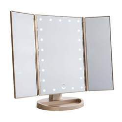 Makeup Mirror With Touch Light Impressions Vanity Touch Trifold Dimmable Led Makeup Mirror