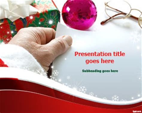 Free Santa Claus Gift List Powerpoint Template Gift Powerpoint Template