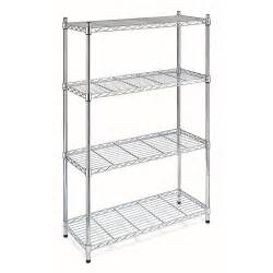 walmart metal shelves whitmor heavy chrome 4 tier supreme shelving walmart