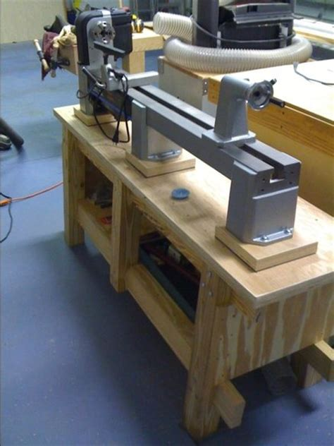 lathe bench  richclark  lumberjockscom woodworking