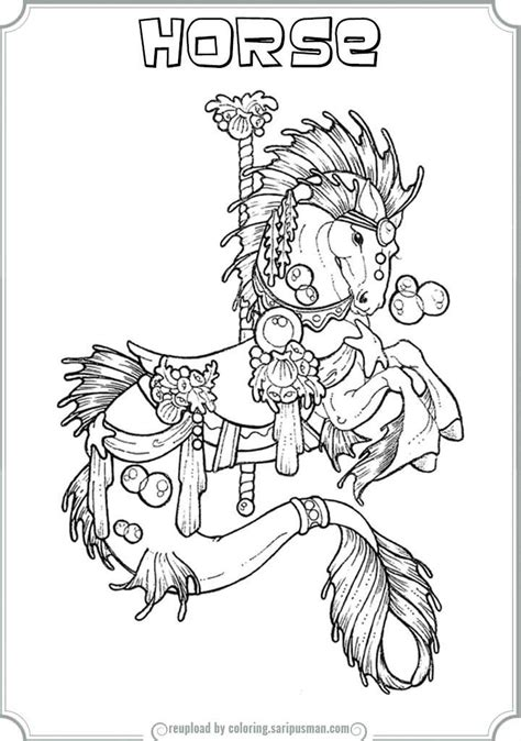 coloring pages of carousel horses carousel coloring pages to print coloring home
