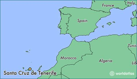 tenerife on a world map where is santa de tenerife spain where is santa
