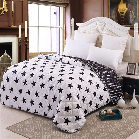 thin comforters for summer it s a quilt new summer thin black and white star duvet