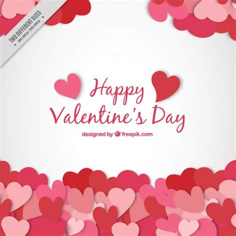 free valentines vectors background with hearts vector free