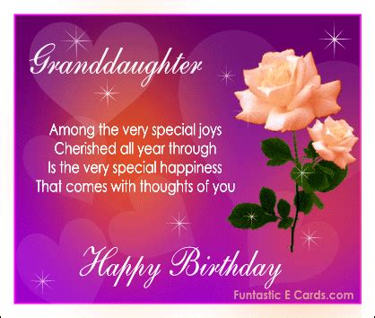 Happy Birthday Wishes For A Granddaughter Free Online Family Birthday Cards E Birthday Messages For