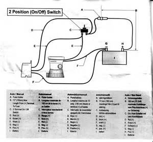 bilge wiring diagram for on baots